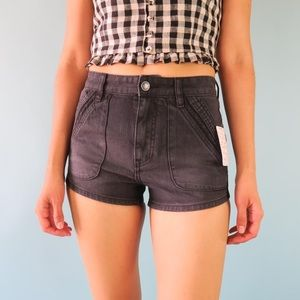 Free People Denim Shorts in Black Size 24